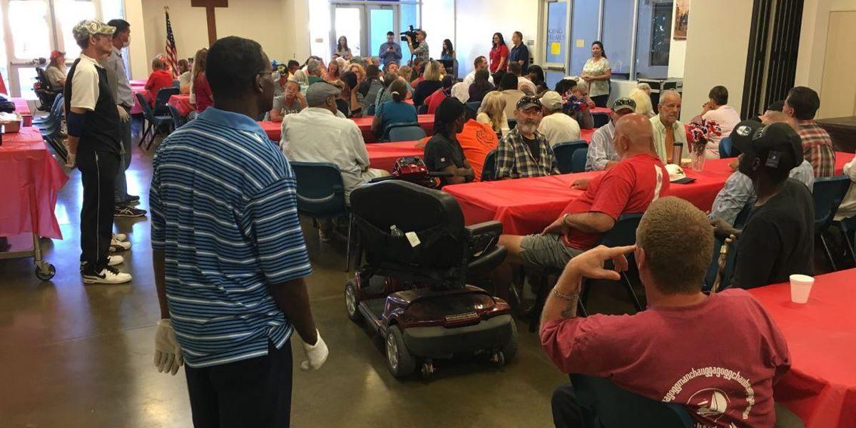 Thankful Veterans making most of Memorial Day dinner