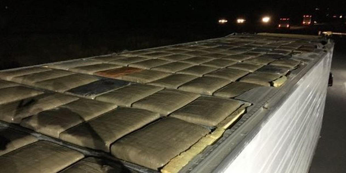 BP agents seize 1,500 pounds of marijuana found in roof of tractor-trailer