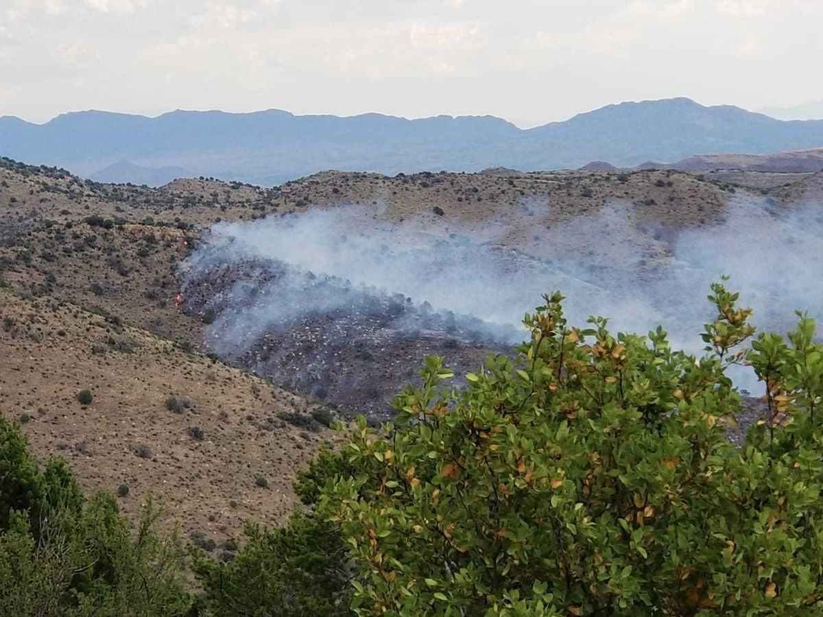 Juniper Flat Fire burning in Cochise County