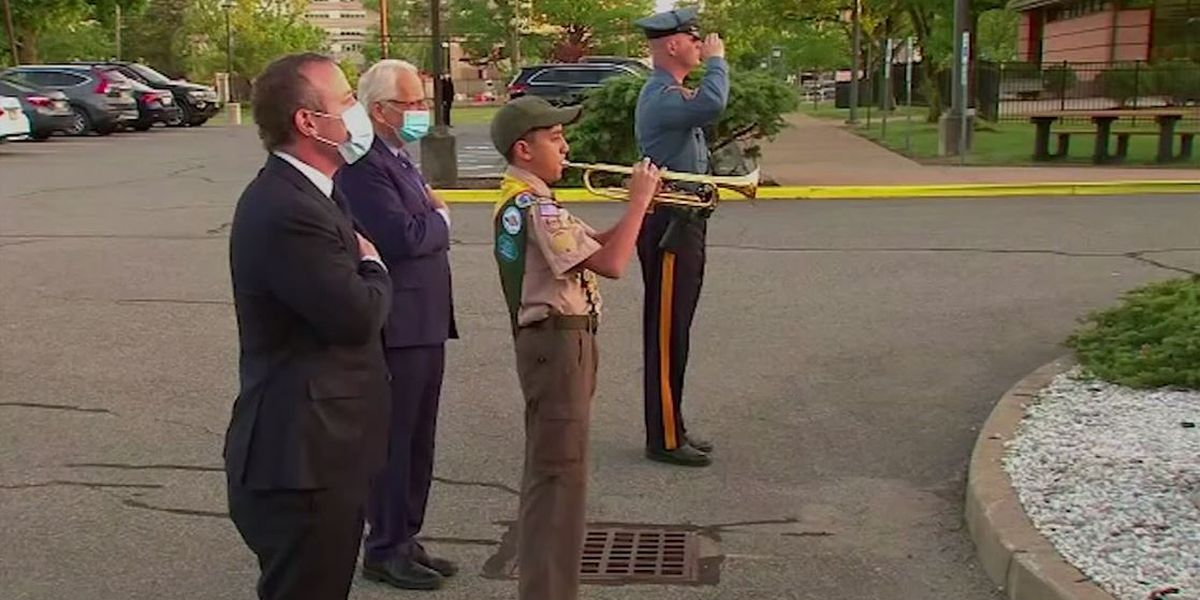 Boy Scout, 13, plays 'Taps' nightly outside NJ veterans' home hit by coronavirus