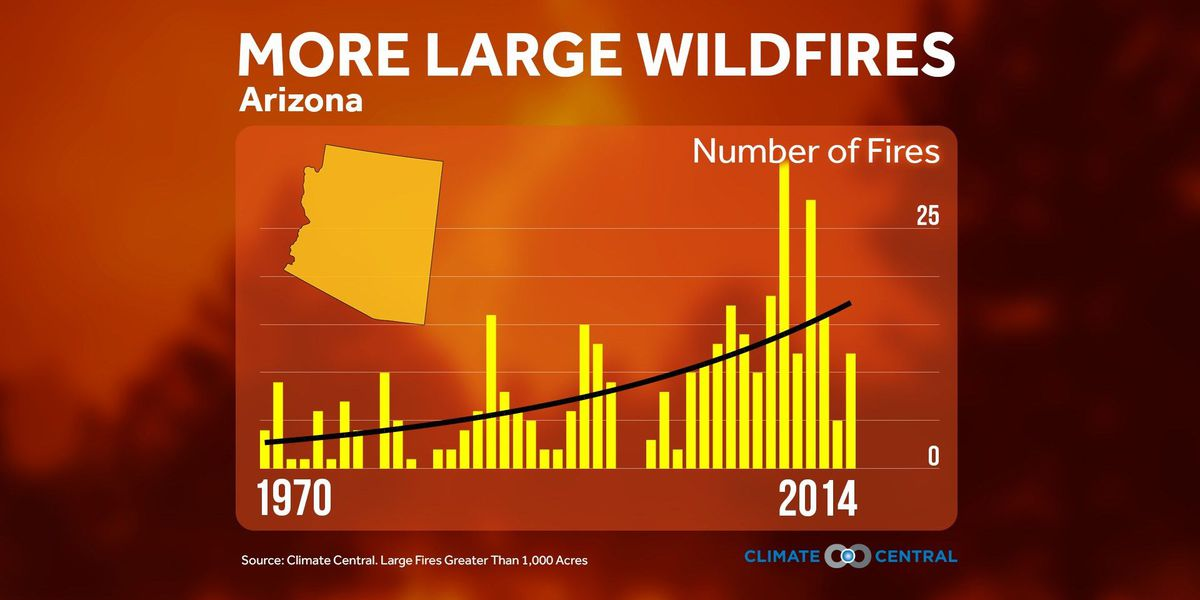 Arizona seeing more large wildfires since the 1970s