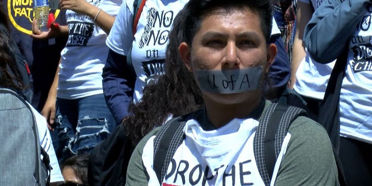 Protesters want charges dropped against UA students