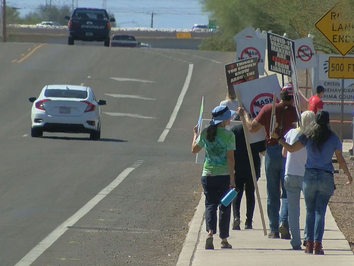 Several groups protest mask mandates in Pima County, Tucson