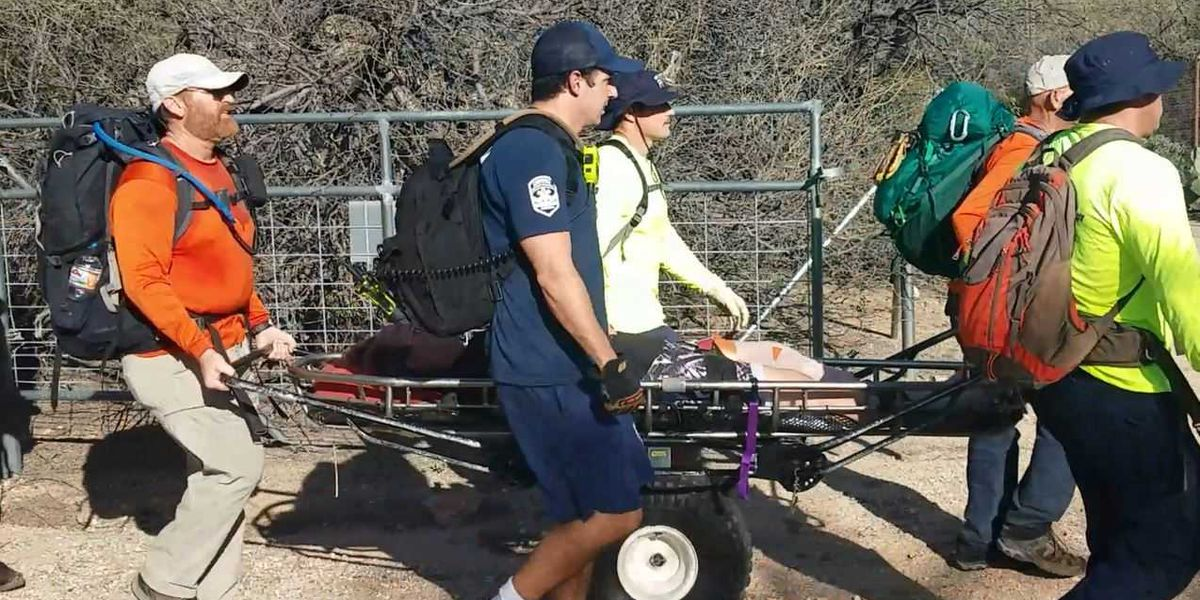 UPDATE: Injured hiker rescued at Ventana Canyon Trailhead