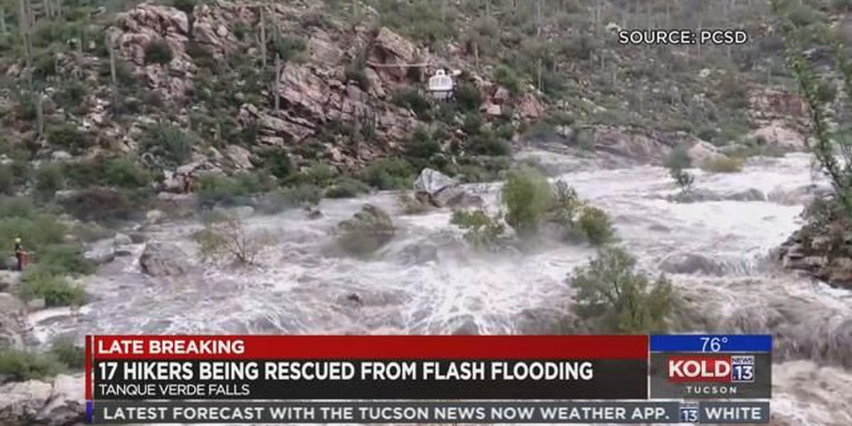 UPDATE: Crews rescue last 2 hikers stranded by flash flood
