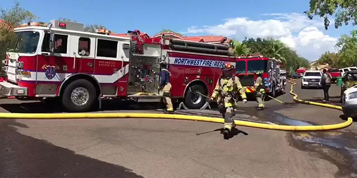 Northwest Fire responds to house fire north of Tucson