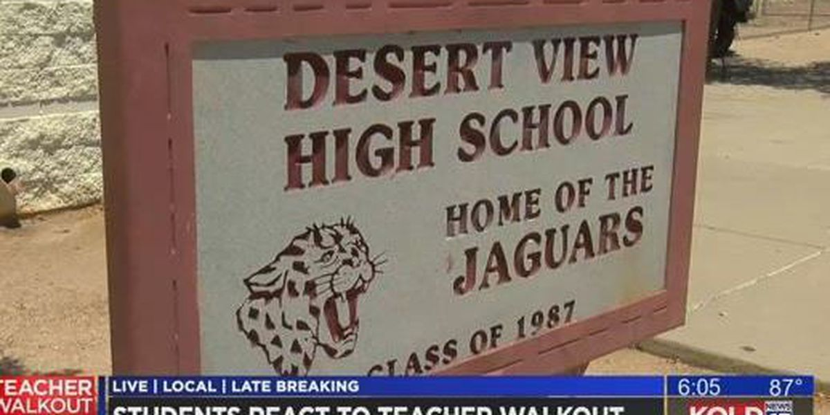 Students, teachers back in the classroom at Desert View H.S. after walkout