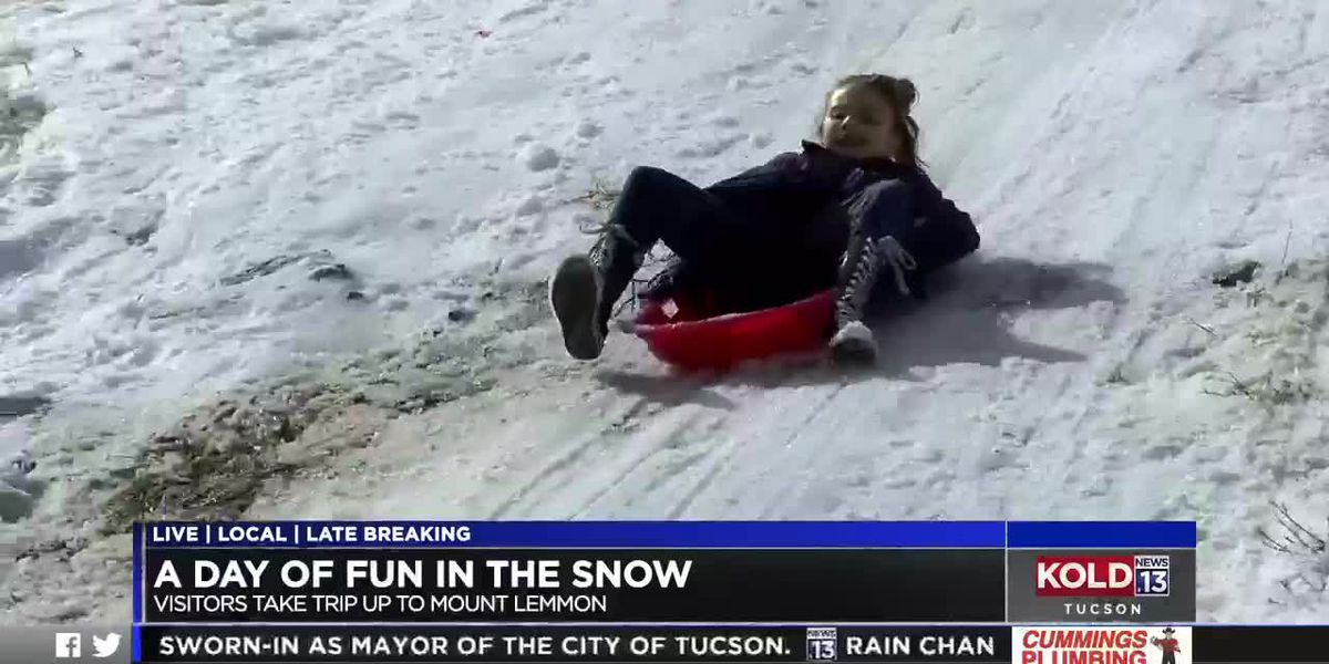 'Snow' other way to spend a Monday, a taste of winter on Mt. Lemmon