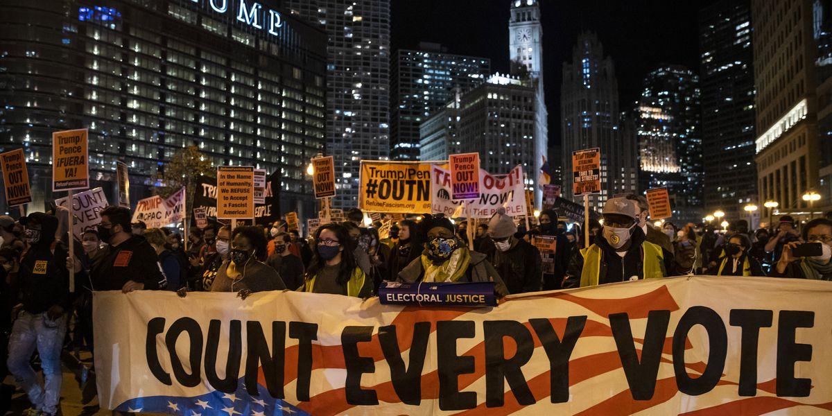 Pro-Trump protesters decry the vote-counting