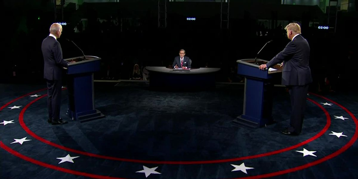 Trump, Biden clash in 1st presidential debate