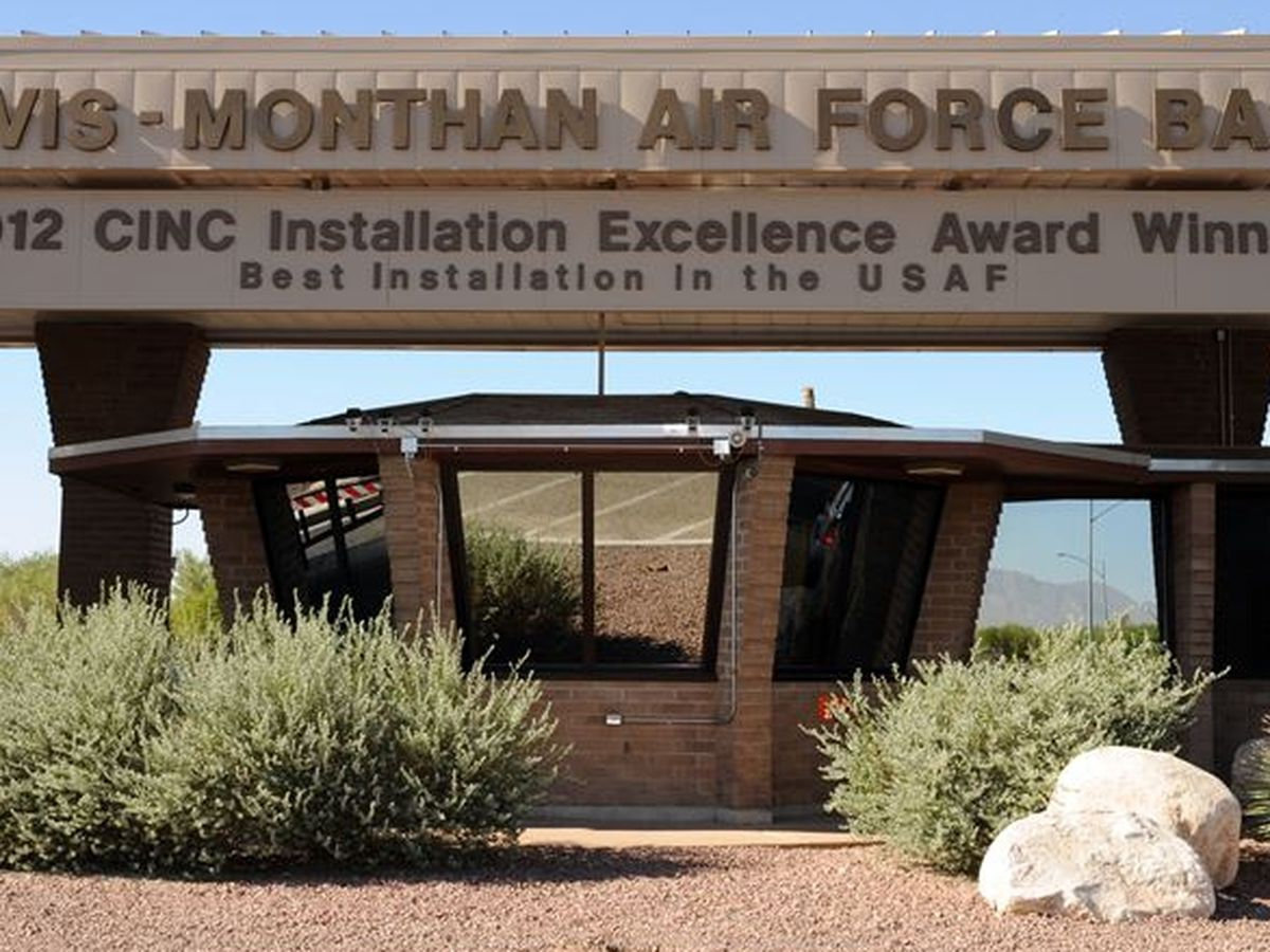 Six F-16s temporarily operating out of Davis-Monthan Air Force Base during TIA construction