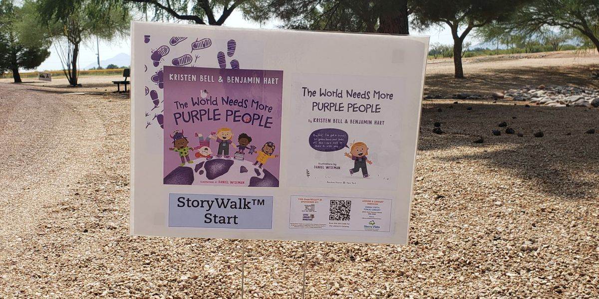 Sierra Vista Library installs StoryWalks for kids to exercise while they read