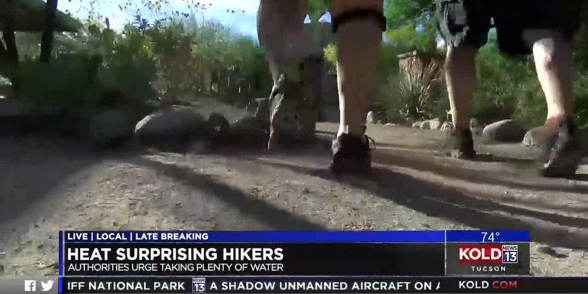 Heat surprising hikers