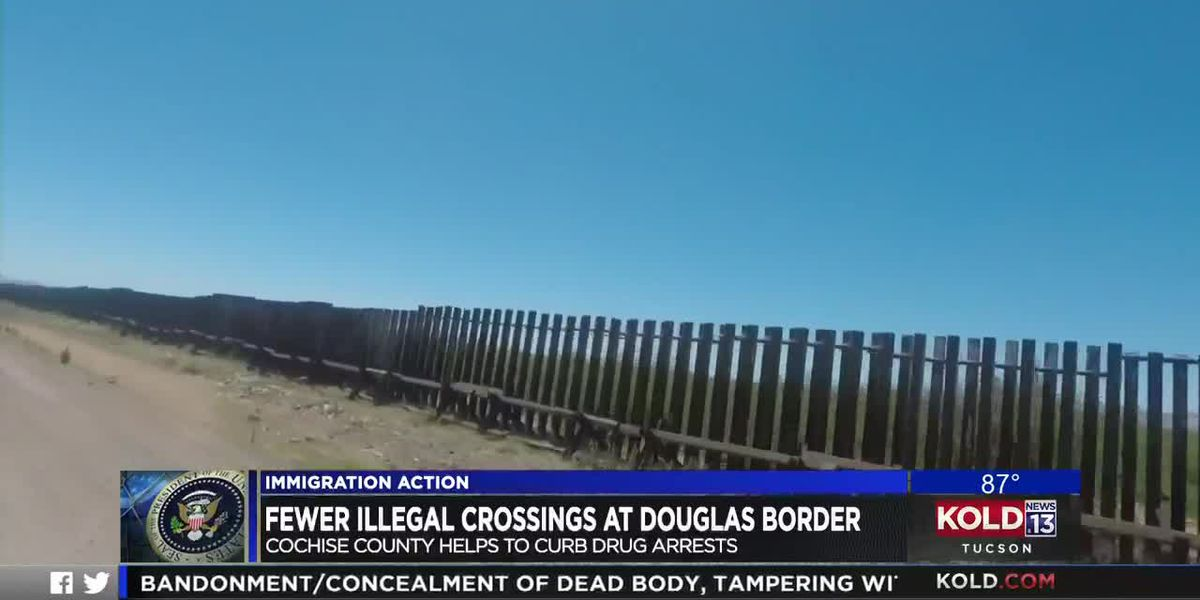 Fewer illegal crossings at Douglas border