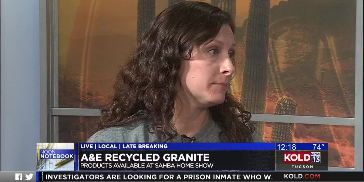 KOLD Noon Notebook: A&E Recycled Granite