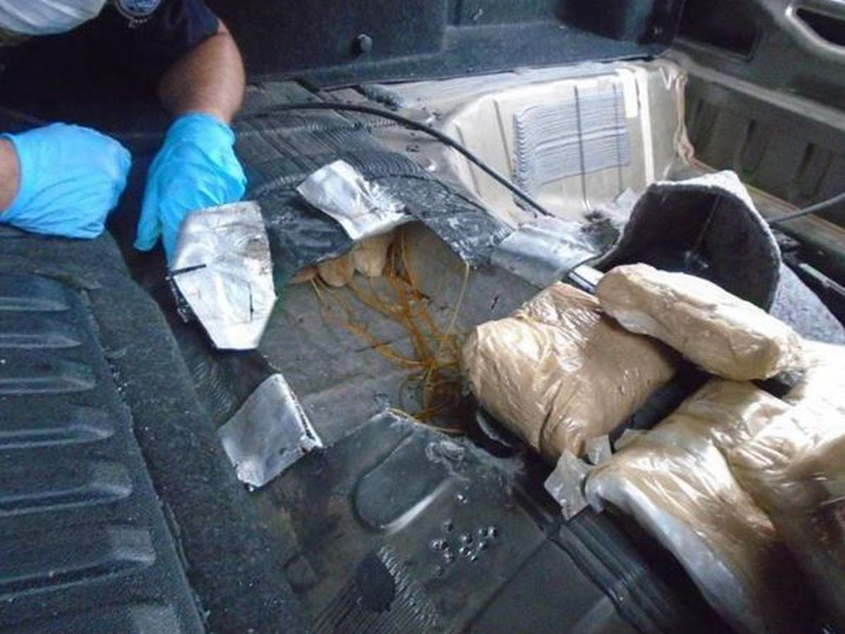 CBP canine sniffs out, helps stop a $1 million drug smuggling attempt near Douglas