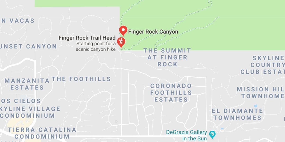 Dehydrated hiker rescue underway at Finger Rock Canyon Trail
