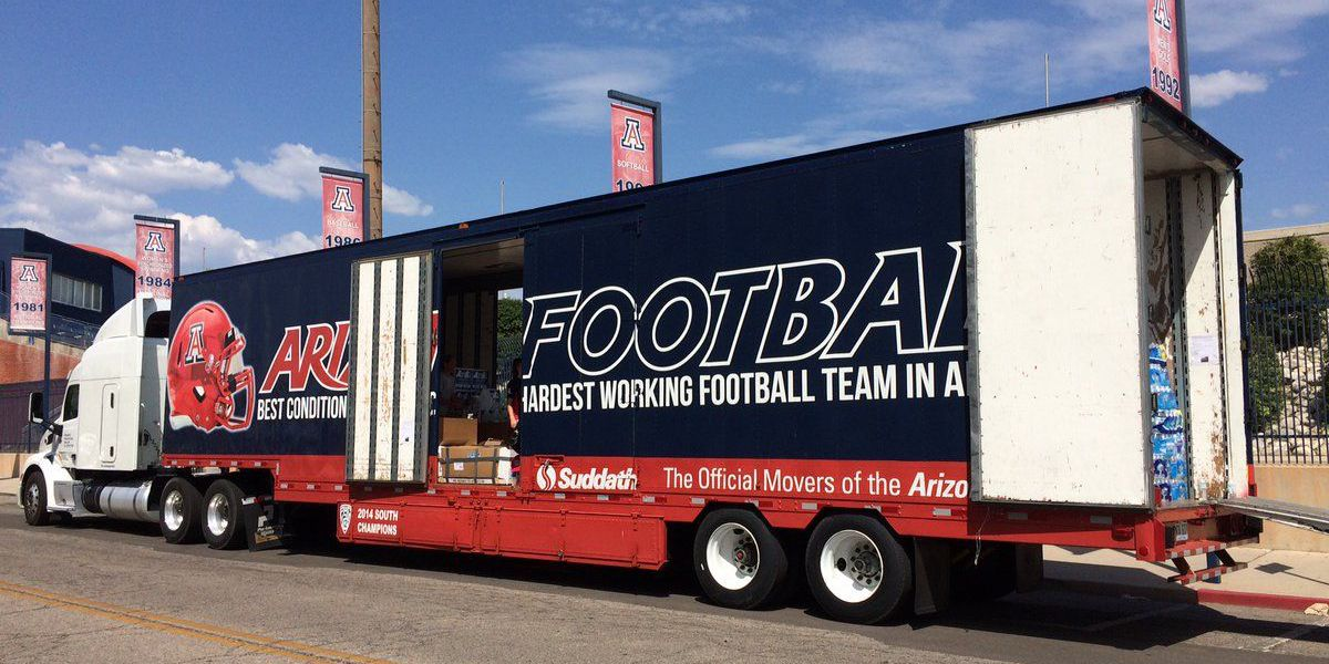 Harvey relief donations fill UA truck headed for Houston