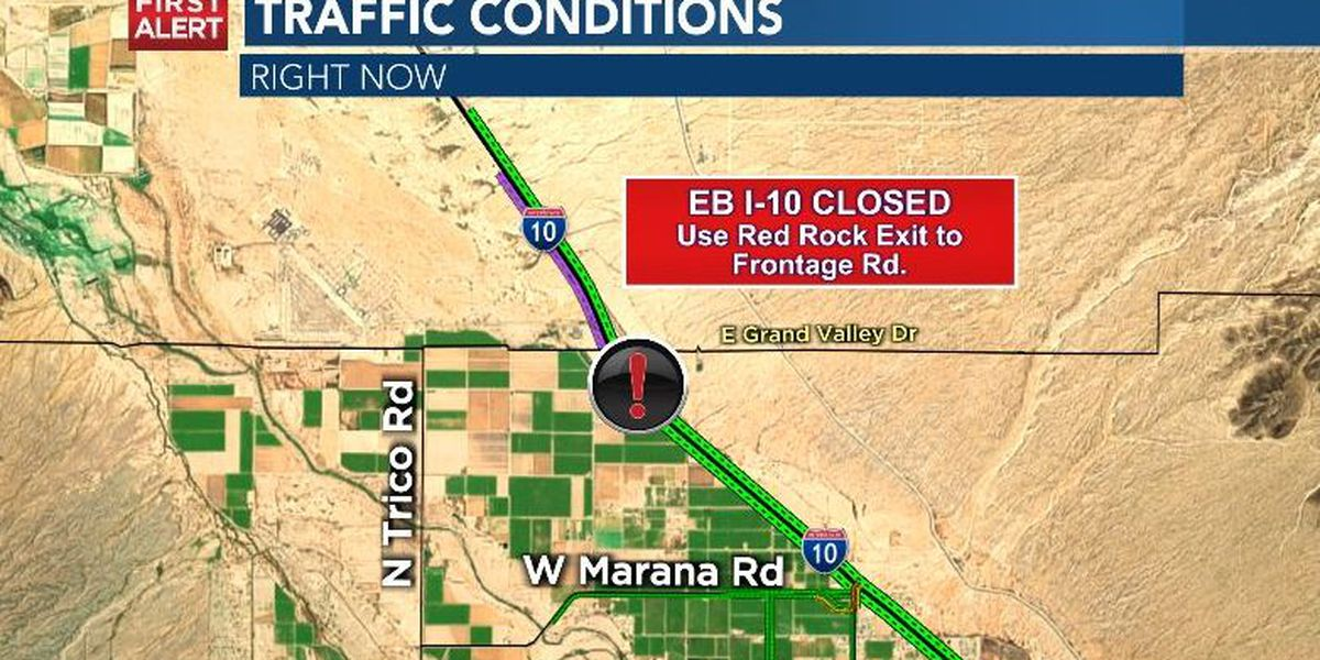 Highway officials reopen EB I-10 after deadly incident between Red Rock, Marana