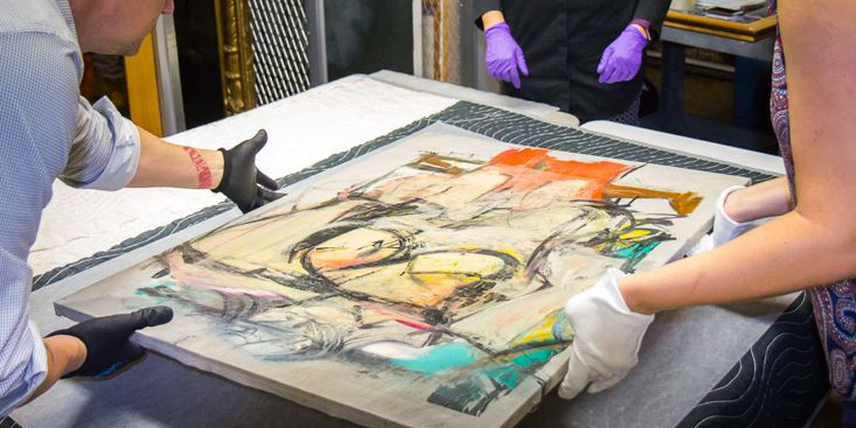 "Getty, U of A partner to conserve long-lost ""Woman-Ochre"" painting"