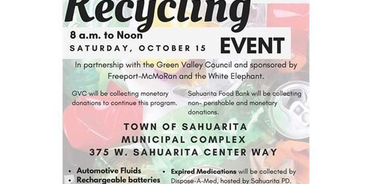 Annual recycling event in Sahuarita