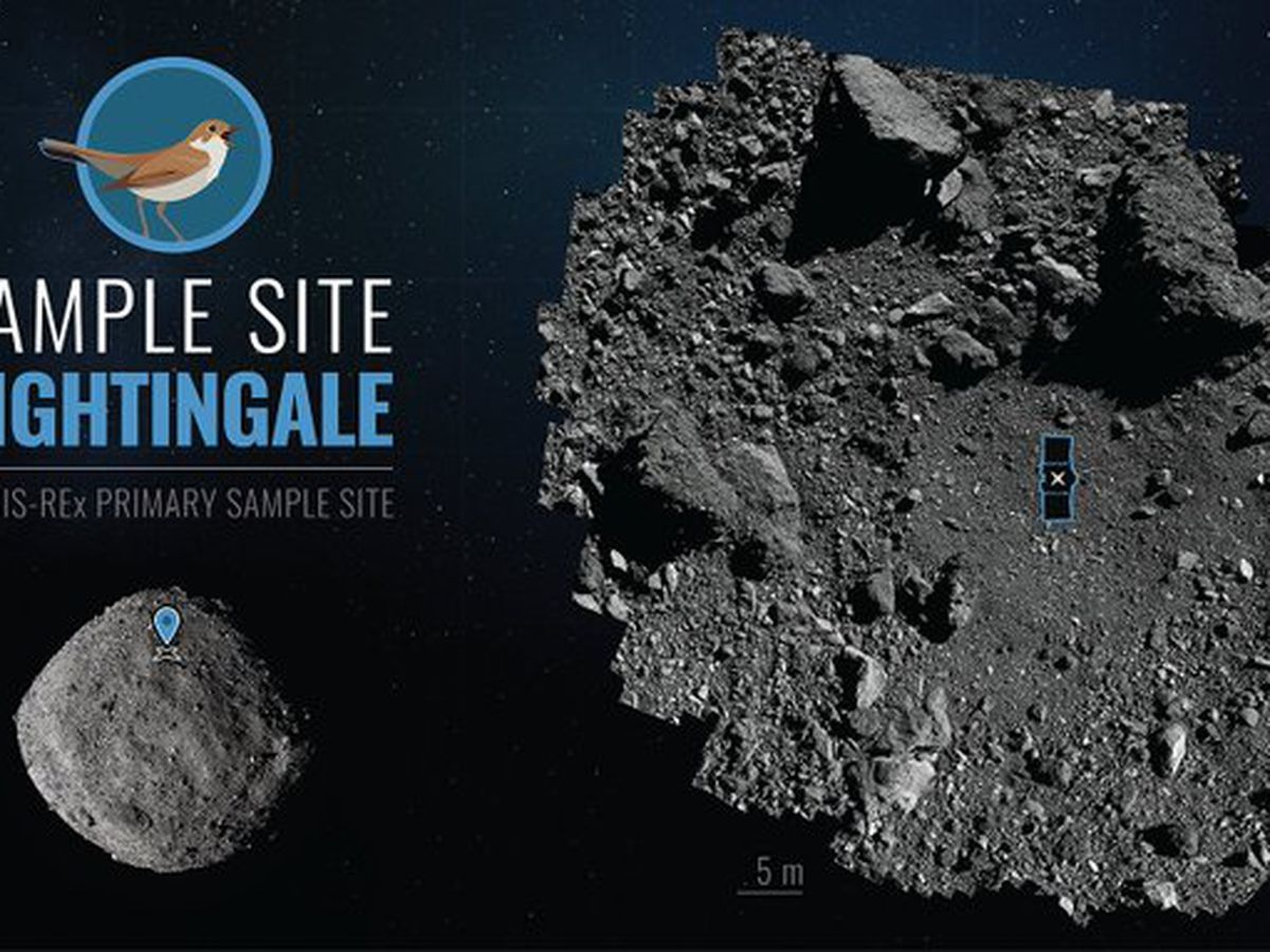 US spacecraft touches asteroid for rare rubble grab