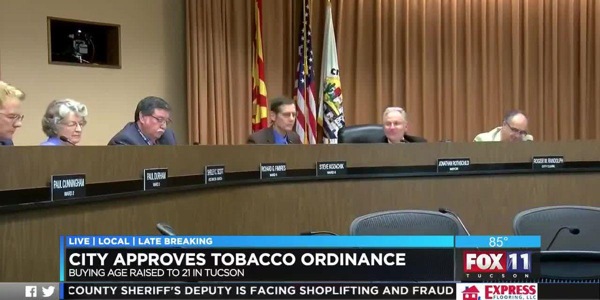 Tucson City Council passes tobacco 21 ordinance